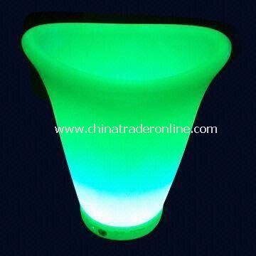 LED Ice Bucket, Made of ABS and PE, Suitable for Promotional/Gift Purposes