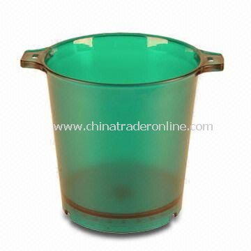 LED Ice Bucket, Made of Acrylic/PS Material, Customized Designs are Welcome