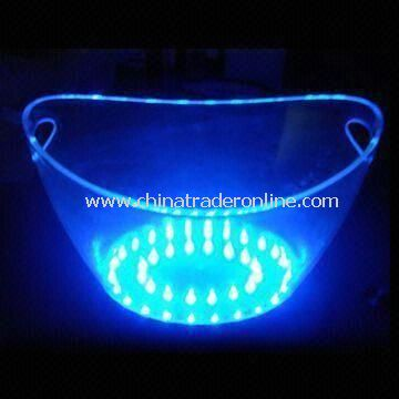 LED Ice Bucket with 8L Capacity, Made of PS Material