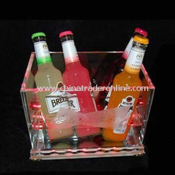 LED Ice Bucket with Logo and Brand, Customized Designs are Welcome