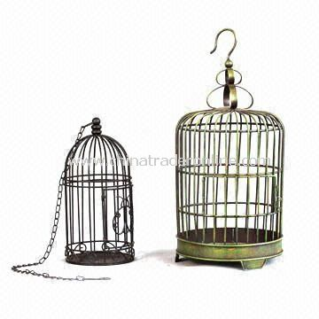 Metal Hanger or Table Cage, Used for Candle and Birds, Suitable for Decorating Garden