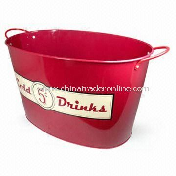 Metal Ice Bucket with 15L Capacity, OEM Orders are Welcome