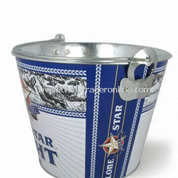 Metal Ice Bucket with 5L Capacity, OEM Orders are Welcome