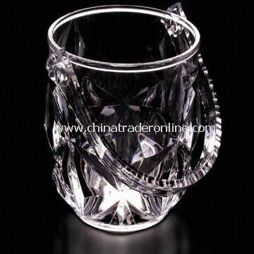 Plastic Ice Bucket, Clear Crystal Appearace
