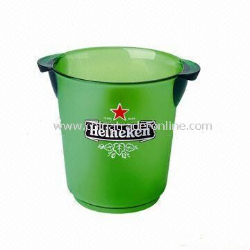 Plastic Ice Bucket, Customized Designs are Accepted, Suitable for Promotional Purposes
