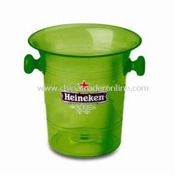 Promotional Acrylic Ice Bucket, Customized Logos and Printings are Welcome from China