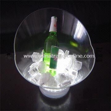 Promotional Ice Bucket, Made of Acrylic or PS, Available in Various Colors