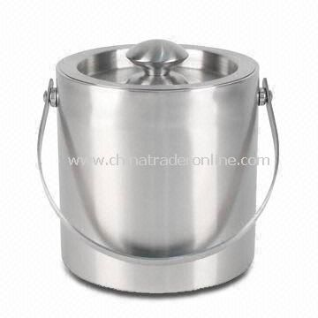 Stainless Steel Ice Bucket with Satin Finish