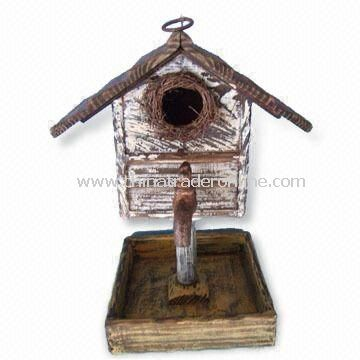 Wooden Birdhouse, Suitable for Easter Decoration, Measures 23.5 x 21 x 32.5cm