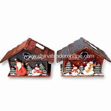 Wooden Birdhouse Standing, Measures 32.5 x 16 x 31.5cm