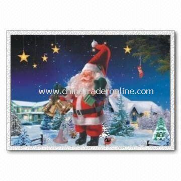 3D Christmas Pictures, Made of 3D Lenticular Sheet, Customized Designs are Welcome