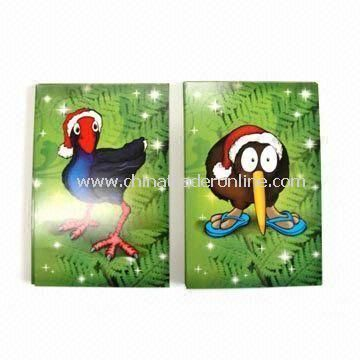Animal Christmas Greeting Cards, Made of 210gsm Ivory Paper with 4C Printing