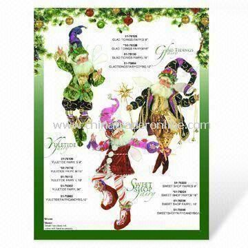 Christmas Card Printing with Full Color, Made of Cardboard Paper
