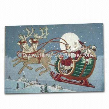 Christmas Ornament/Placemat, Various Designs are Available, Made of 65% Polyester and 35% Cotton