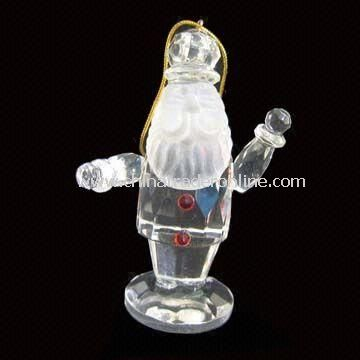 Christmas Ornament with Santa Claus Shape Design, Made of Crystal