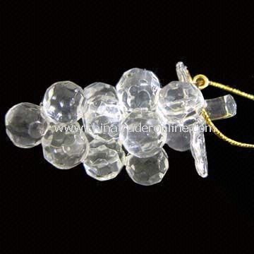 Crystal Ornament with Grape Shape Design, Can be Hung on Christmas Trees