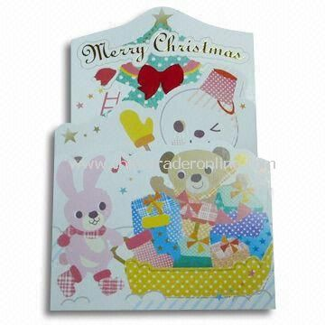 Merry/Greeting Card, Various Colors and Sizes are Available, Suitable for Christmas