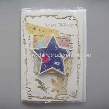 Paper Card in Printed Envelope, Suitable for Christmas Gifts, OEM Orders are Welcome