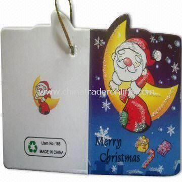Voice Recordable Gift Card, Made of 250g White Paper, OEM Orders are Welcome