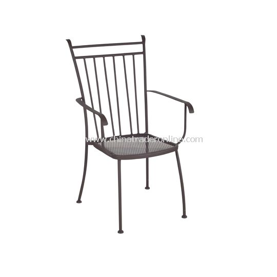 Wrought Iron Armchair, Small Mesh Armchair