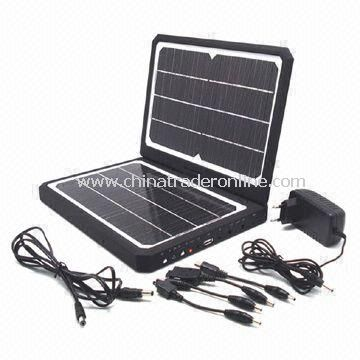 1,800mAh Mobile Phone Solar Charger, Provides Power Supply for Phone, MP3, MP4, Camera, PDA, and PSP from China