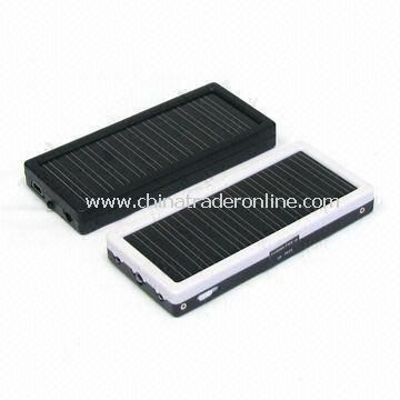 1350mAh/3.7V DC Solar Chargers with Emergency System for Travel