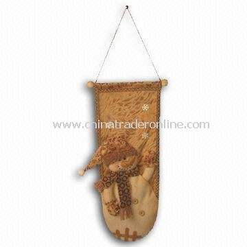 18-inch Santa, Snowman, and Moose Wall Hanging Christmas Decoration, Available in Brown