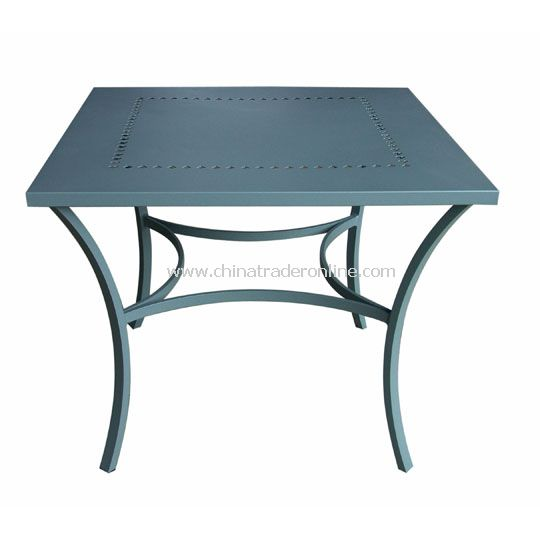 Aluminium Table with Poker Pattern