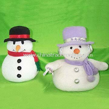 Attractive Stuffed and Plush Christmas Snowmen, Good for Decoration