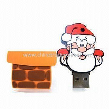 Chimney Santa Claus-designed Bootable USB Flash Drive with 1 to 8GB Memory Capacities