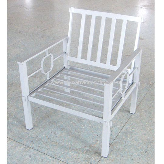 Chinese Wind Aluminium Amrchair with silver powder
