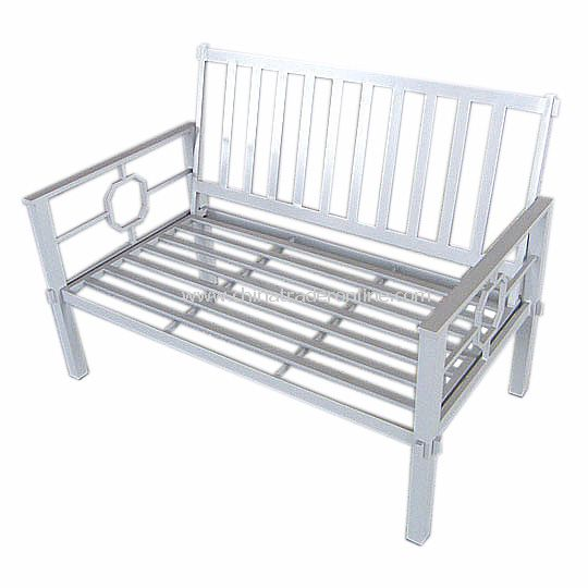 Chinese Wind Aluminium Bench with silver powder