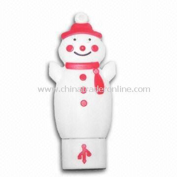 Christmas Snowman USB Flash Drive, Made of Silicone, Custom Mold Setup Charge only USD50