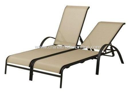 Garden Furniture Aluminum Outdoor Double Chaise Lounge