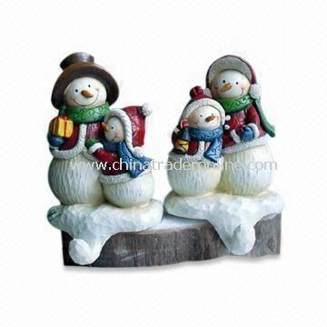 Hand-painted Polyresin Snowman Socks Hook Craft, Suitable for Christmas Decorations