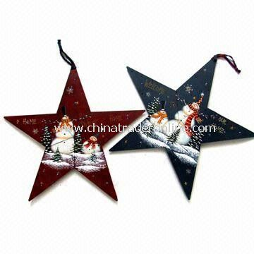 Metal Snowman Star with LED Light