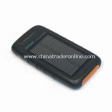 Mini Solar Charger with Li-Pol Backup Battery and 2,800mAh Capacity
