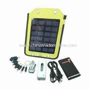 Novelty Design Solar Power Charger, Fits for MP3 and MP4 Player, Convenient to Take Along