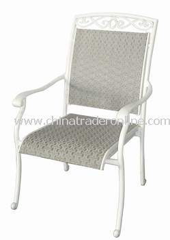 Outdoor Furniture Textilene Stacking Outdoor Chair from China