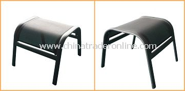 Patio Furniture Sling Steel Outdoor Ottoman From China