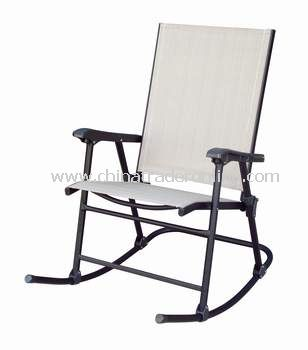Patio Sling Folding Rocking Chair From China