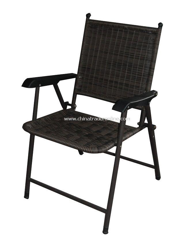 PE Rattan Patio Folding Chair