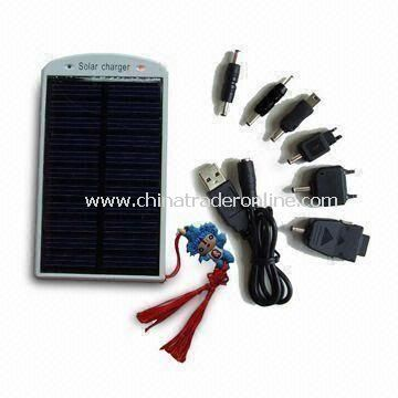 Portable Solar Charger, Fits for Mobile Phone, Digital Camera, PDA, MP3 Player and More
