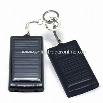 Portable Solar Charger with 5.5V/60mA Panel and 5.0V/1,000mA AC Adapter
