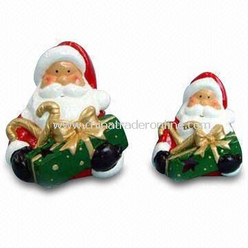 Santa Claus Shaped Craft, Made of Enamel and Zinc Alloy, Customized Specifications are Accepted