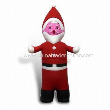 Santa Claus USB Flash Drive with 10Mbps Reading and 7Mbps Writing Speed