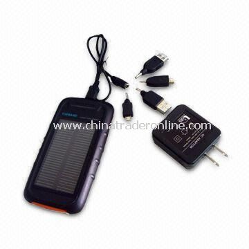 Solar Charger for Camera, PDA, MP3, MP4 Player, DV, PMP, PSP, GPS, and Emergency System