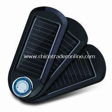 Solar Charger with Magnet on Back, Suitable for Mobile Phones, Digital Cameras, MP4 or MP3 Players