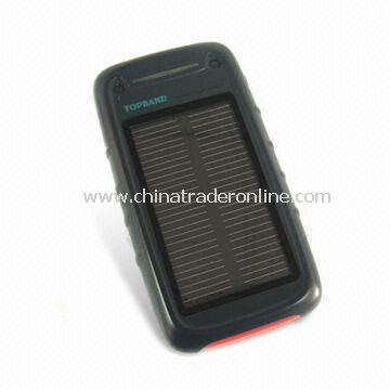 Solar Chargers with 2,800mAh/3.7V Capacity, Used for Camera, PDA, and MP3/MP4 Player from China