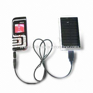 Solar Power Charger with 1.1W Power, 5.5V Voltage, and 200mA Current